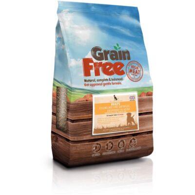 100% kornfrit hvalpe hundemad fra Det Gode Hundemad. 60% kød indhold BARF