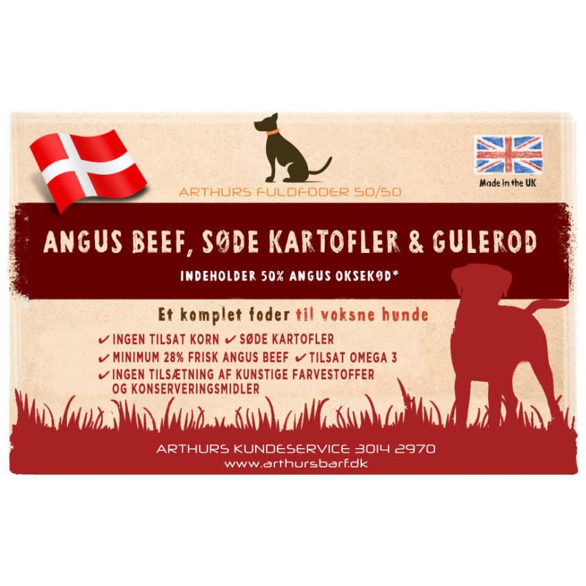 Angus Oksekød Voksen foder af bedste kvalitet. Helt uden tilsætningsstoffer, korn, majs, ris.