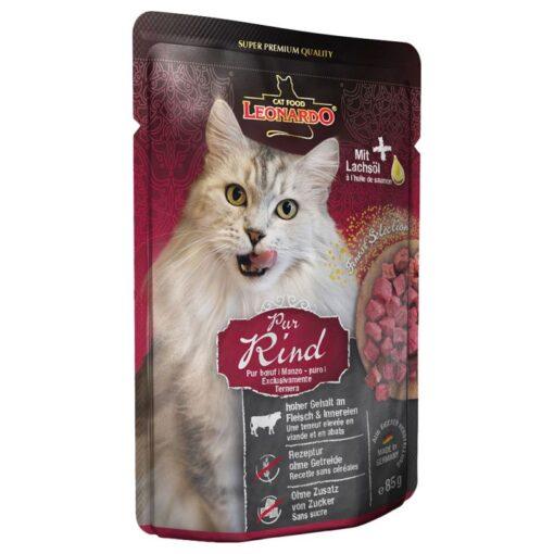 Leonardo ren okse vådfoder som din kat vil elske. Fås hos Arthurs Barf i Hørsholm