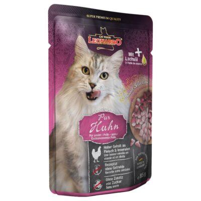 Leonardo ren kylling vådfoder som din kat vil elske. Fås hos Arthurs Barf i Hørsholm