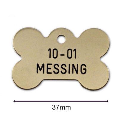 Hundetegn i messing fra Arthurs Råt & Godt i Hørsholm. Top kvalitets hundeskilt inkl. levering