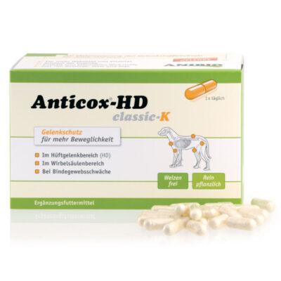 Anibio Anticox HD kan anbefales til ældre hunde og hunde med slidgigt.