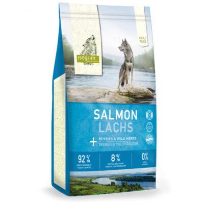 Isegrim River, Adult, Salmon/Laks til voksen hund, 92/8/0 høj mængde kød, med grønsager, helt uden korn fra Arthurs Barf i Hørsholm